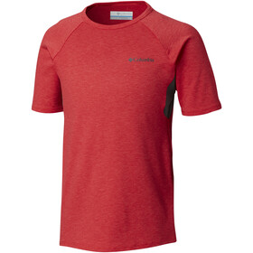 Columbia Silver Ridge II Shortsleeve Tee Jungs bright red heather